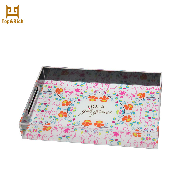 Made in China Fashion Design Hot Stamping Printing Acrylic Serving Tray