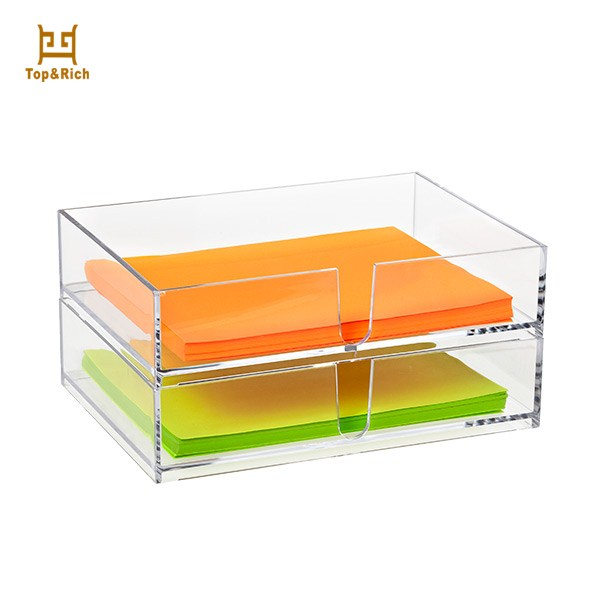 Clear Lucite Acrylic Serving Tray With Two Layers