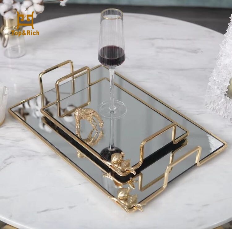 Acrylic Metal Frame Serving Tray