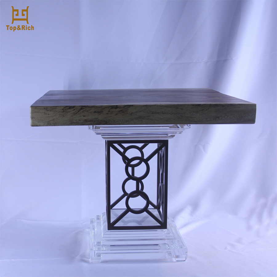 Living Room Use Clear Square Designer Coffee Table Acrylic Cube Table