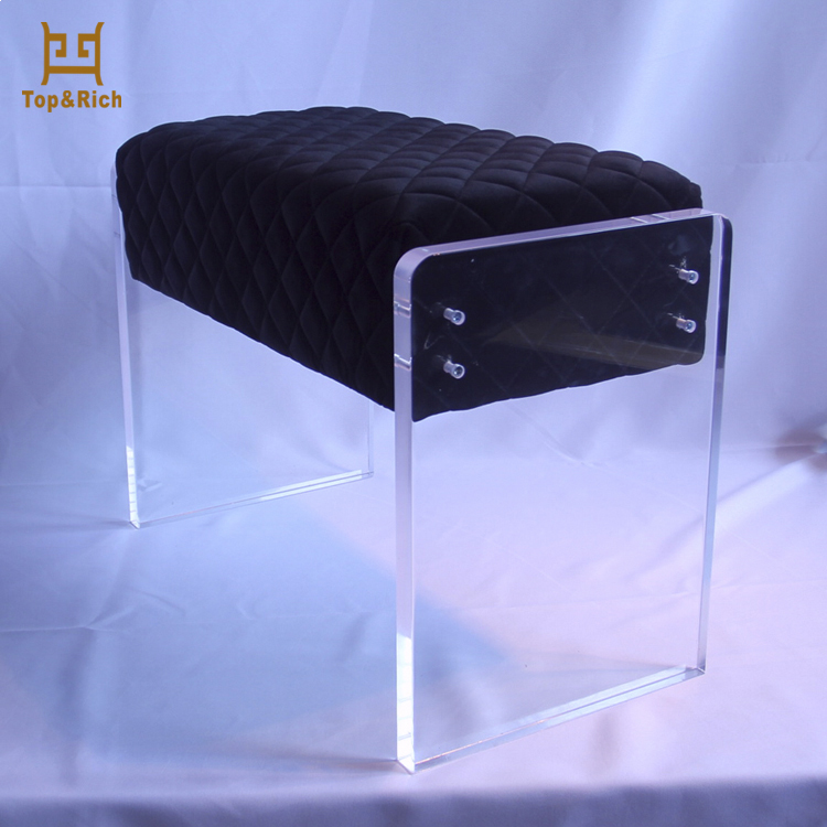 Cheap Bulk Accent Chairs Furniture Velvet Acrylic Stool