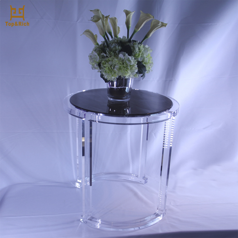High-End Round Wholesale Acrylic Tables Acrylic Side Table