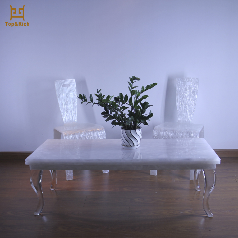 Factory Directly Sell Fashion Design Clear Acrylic Table Acrylic Wedding Table