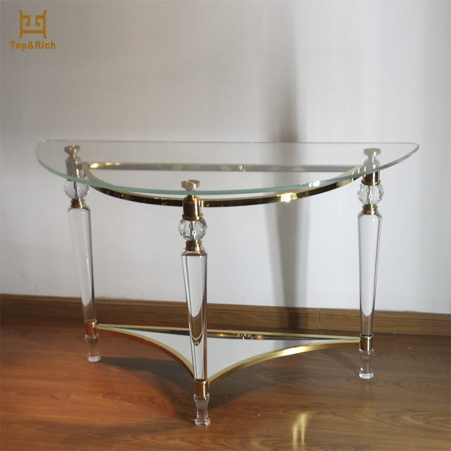 High-end Furniture Clear Acrylic Side Table Wholesale Acrylic Tables