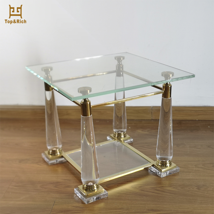 High Class Furniture Cheap Modern Clear Square Acrylic Coffee Table
